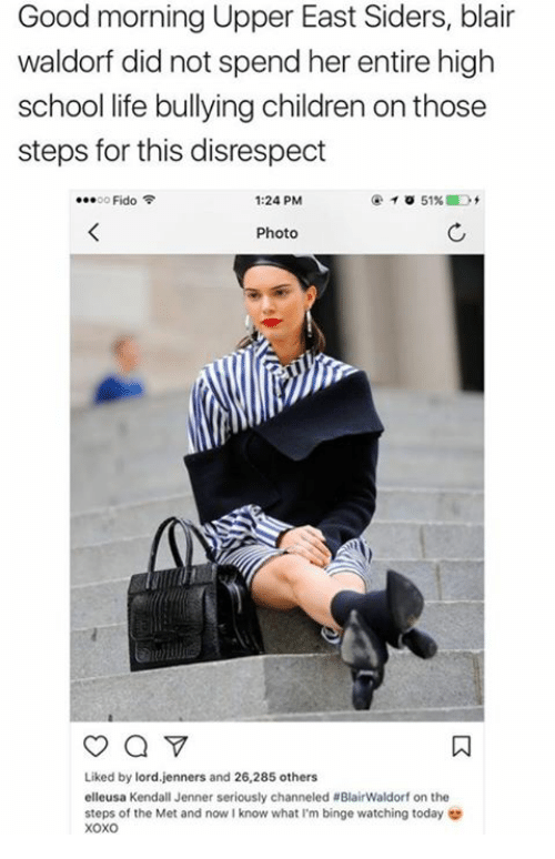 Good Morning Upper East Siders : Funny blair memes of on me chucking
