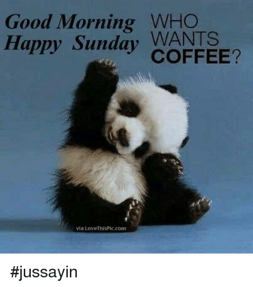Good Morning Who Happy Sunday Wants Coffee Via Lovethispiccom