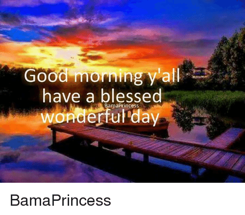 Good Morning Y All Have A Blessed Princess Wonderful Day