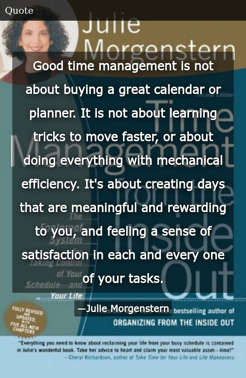 Good Time Management Is Not About Buying a Great Calendar or Planner
