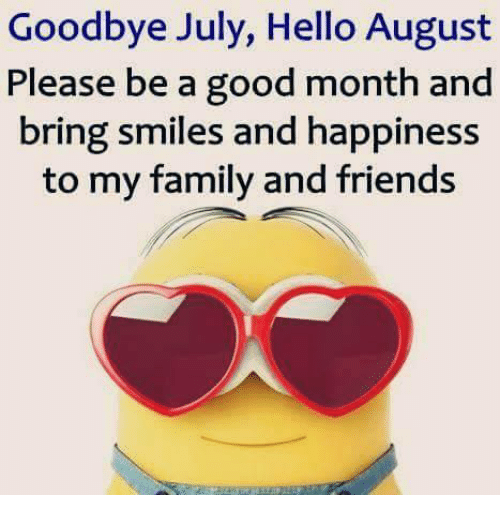 Hello, Memes, And 🤖: Goodbye July, Hello August Please Be A Good