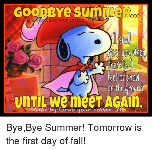 goodbye suin er a ca grab your coffee feet of snow on 3994673 ✅ 25 best memes about first day of fall first day of fall memes