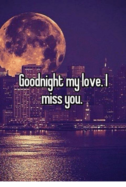 Goodnight My Love Miss You Meme On Meme