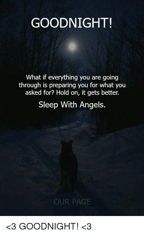 Memes Angels And Sleep Goodnight What If Everything You Are Going Through