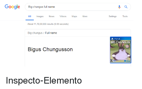 Google Big Chungus Full Name All Images News Videos Maps More