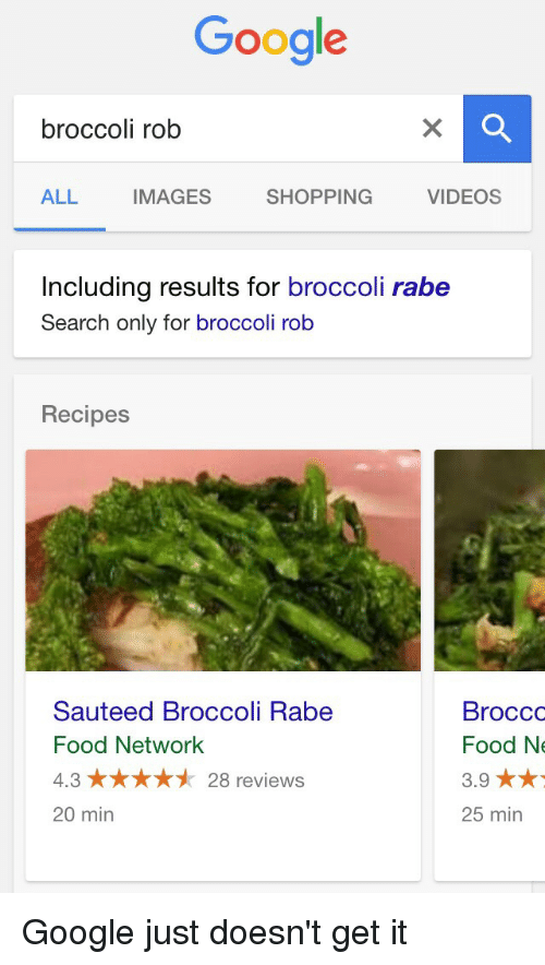 Google broccoli rob all images videos shopping including results for food food network and google google broccoli rob all images videos shopping including forumfinder Images