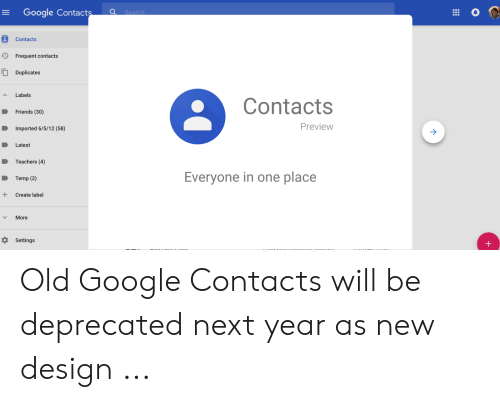Google Contacts Search Contacts Frequent Contacts Duplicates Labels