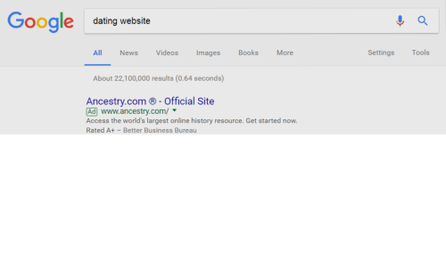 dating website in google