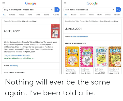 Google Google Diary of a Wimpy Kid 1 Release Date Dork Diaries 1