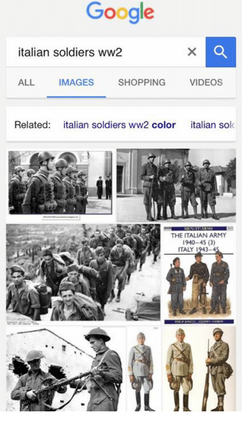 25 best memes about italian soldiers ww2 italian soldiers dank memes italy and ww2 google italian soldiers ww2 shopping videos all images related talian soldiers ww2 color italian solc the italian army 1940 45 sciox Images