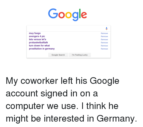 Funny, Google, and Avengers: Google muy fuego avengers 4 pic lets versus let's probasketballtalk turn down for what prostitution in germany Remove Remove ...