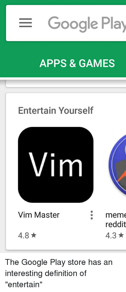 Google play apps games entertain yourself vim vim master mem google reddit and apps google play apps games entertain yourself vim vim solutioingenieria Gallery