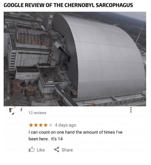 GOOGLE REVIEW OF THE CHERNOBYL SARCOPHAGUS 12 Reviews 4 Days