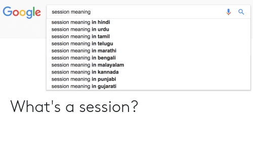 Google Session Meaning Session Meaning in Hindi Session