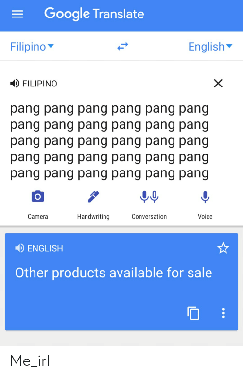 Google Translate Filipino English FILIPINO Pang Pang Pang