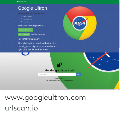 Google Ultron Home About Google Ultron Powered by Adobe