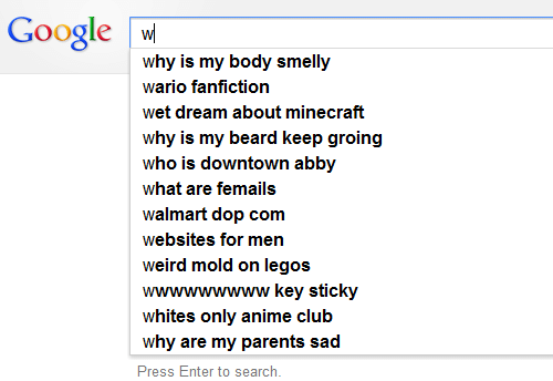 Anime, Beard, and Club: Google w  why is my body smelly  wario fanfiction  wet dream about minecraft  why is my beard keep groing  who is downtown abby  what are femails  walmart dop com  websites for men  weird mold on legos  wwwwwwwww key sticky  whites only anime club  why are my parents sad  Press Enter to search.
