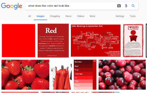 Google What Does The Color Red Look Like All Mages Shopping News