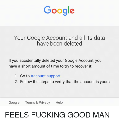Google Your Google Account and All Its Data Have Been