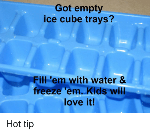 Ice Cube, Love, And Kids: Got Empty Ice Cube Trays? Fill U0027