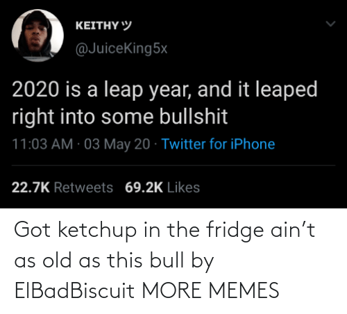 Dank, Memes, and Target: Got ketchup in the fridge ain't as old as this bull by ElBadBiscuit MORE MEMES