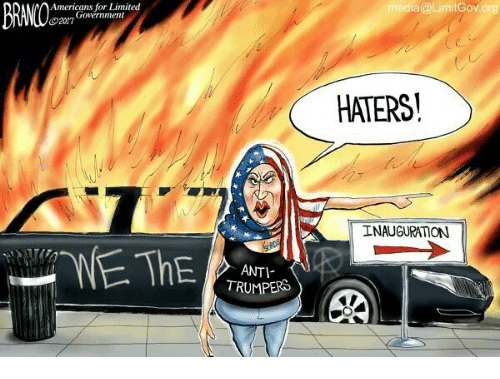 Memes, 🤖, and Hater: Government  2017  ANTI-  TRUMPERS  media@LimitGov org  HATERS  INAUGURATON