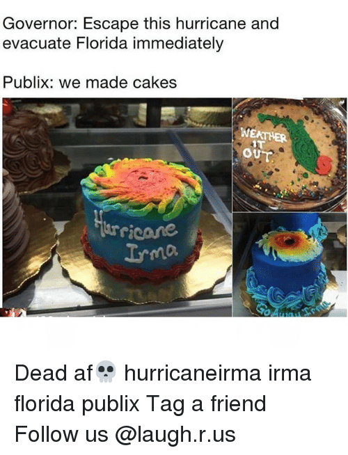 Af Memes And Publix Governor Escape This Hurricane Evacuate Florida Immediately