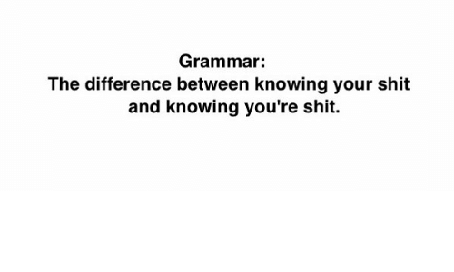 grammar the difference between