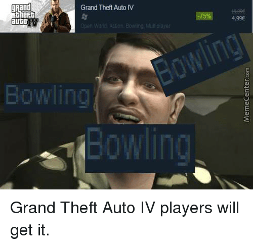 Grand Theft Auto Iv Auto Open Wond Action Bowling Multiplay Bowling
