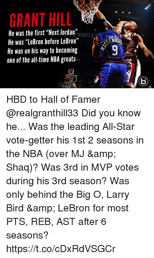 Grant Hill He Was The First Next Jordan He Was Lebron Before Lebron
