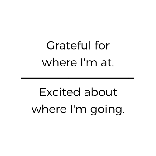 Memes, 🤖, and For: Grateful for  where l'm at.  Excited about  where I'm going