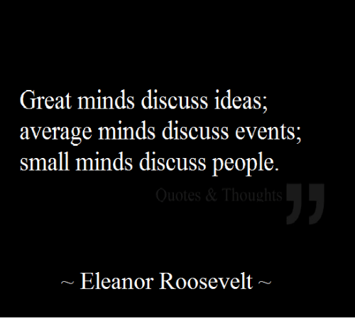 Small Minds Discuss People Quote: 25+ Best Small Minds Discuss People Memes