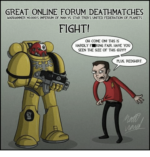 Great Online Forum Deathmatches Warhammer 40000s Imperium Of Man Vs