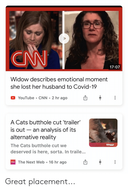 Reddit, Great, and  Placement: Great placement...