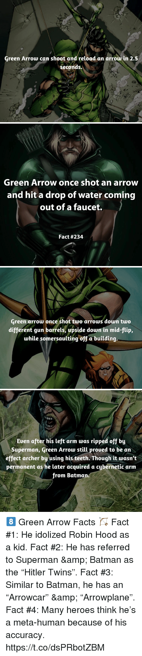 green arrow can shoot and reload an arrow in 25 seconds green arrow