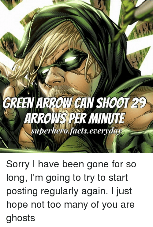 green arrow can shoot29 arrow per minute superhero facts everyday