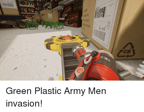 Army, Plastic, and Green: Green Plastic Army Men invasion!