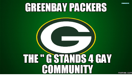 graphic relating to Green Bay Packers Printable Logo known as GREENBAY PACKERS THE G STANDS 4 Homosexual Memes COM Packers Meme