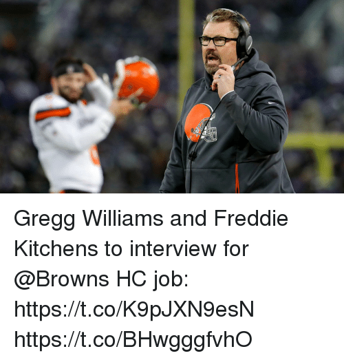 Memes, Browns, and 🤖: Gregg Williams and Freddie Kitchens to interview for @Browns HC job: https://t.co/K9pJXN9esN https://t.co/BHwgggfvhO