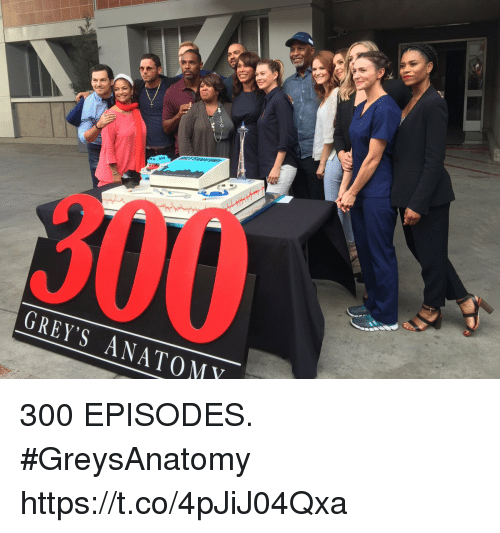 GREY\'S ANATOMY 300 EPISODES #GreysAnatomy Httpstco4pJiJ04Qxa | Meme ...