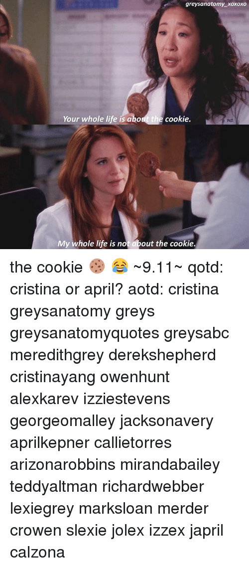Greysanatomy Xoxoxo Your Whole Life Is About the Cookie My Whole ...