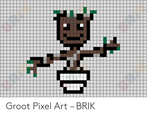 Groot Pixel Art Brik Art Meme On Sizzle