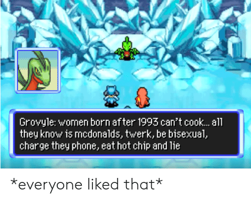 Grovyle Women Born After 1993 Can T Cook Al They Know Is Mcdonalds Twerk Be Bisexual Charge They Phone Eat Hot Chip And Lie Everyone Liked That Mcdonalds Meme On Me Me If you are afraid of fire, some in the uk recommend leaving the charging device on a dish or saucer while plugged in, or putting it on something metal that is more likely to dissipate heat, like a heatsink does on the chips inside a pc. grovyle women born after 1993 can t
