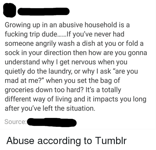 Image result for growing up in an abusive household