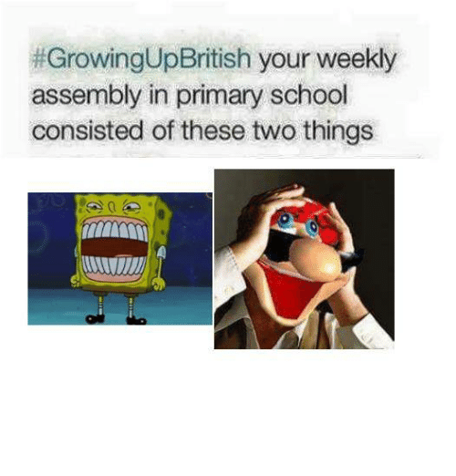 Growingupbritish Your Weekly Assembly In Primary School Consisted