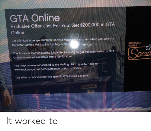 GTA Online Exclusive Offer Just for You Get $200000 in GTA Online 90