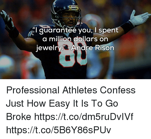 professional athletes going broke