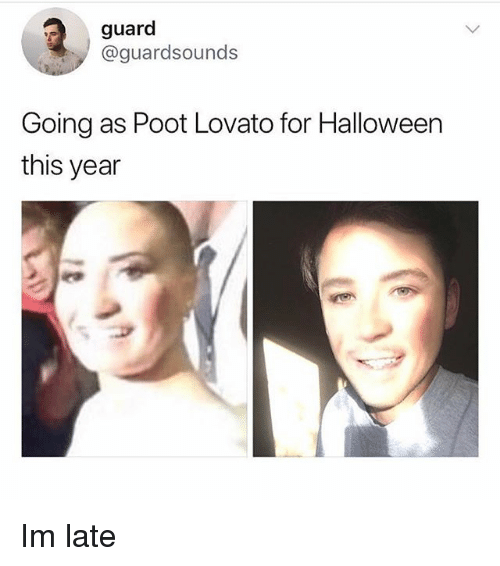 guard guardsounds going as poot lovato for halloween this year 28727626 guard going as poot lovato for halloween this year im late