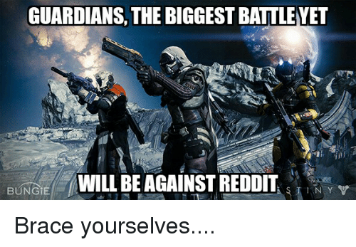 GUARDIANS THE BIGGESTBATTLEYET WILL BE AGAINST REDDIT NY