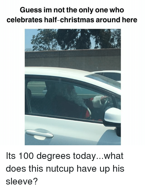 Anaconda, Christmas, and Memes: Guess im not the only one who  celebrates half-christmas around here Its 100 degrees today...what does this nutcup have up his sleeve?
